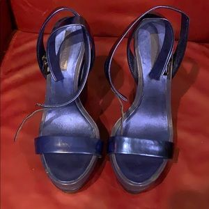 Women's Royal Patent Leather wedge heel